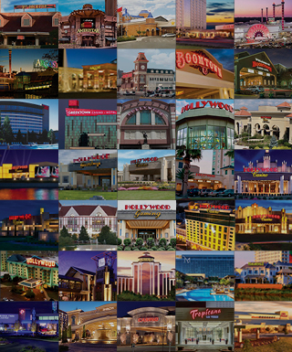 collage of all Penn National Gaming properties